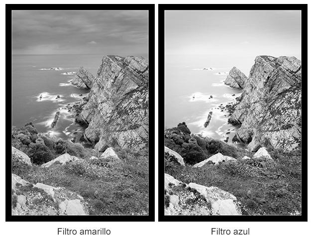 Blanco y Negro con filtros de color