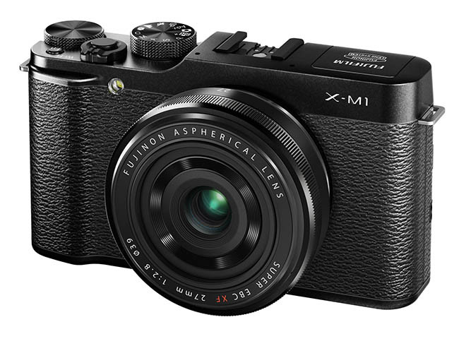 fujifilm X-M1_Black_Front_Left_27mm