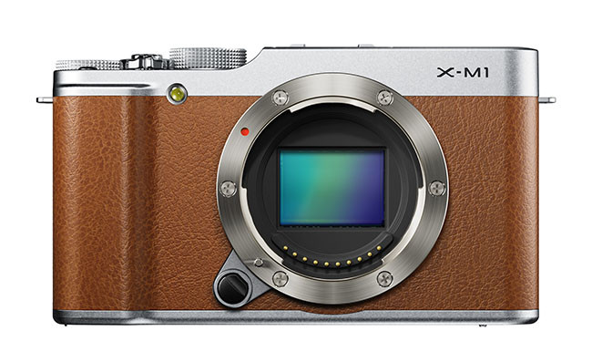 fujifilm X-M1_Brown_Front_CMOS_Gradation