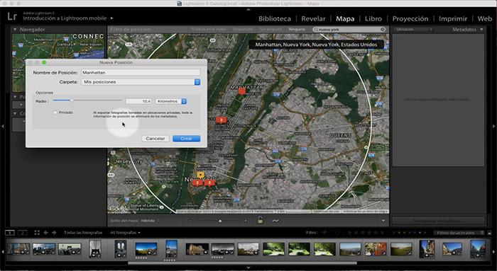 El módulo mapa es una funcionalidad muy interesante en fotografía de viajes.