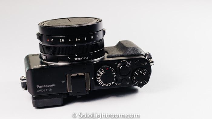 Todos los controles de apertura, velocidad y compensación de exposición en el cuerpo de la cámara