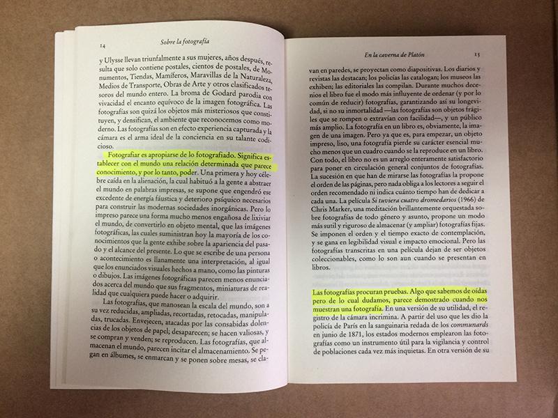 """Libro """"Sobre la fotografía"""", de Susan Sontag"""