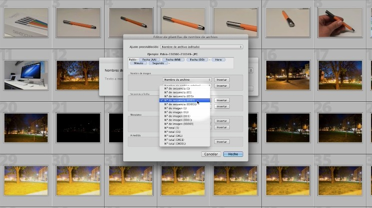 Curso de Adobe Lightroom nº 61: Las plantilas de renombrado de archivos (I)