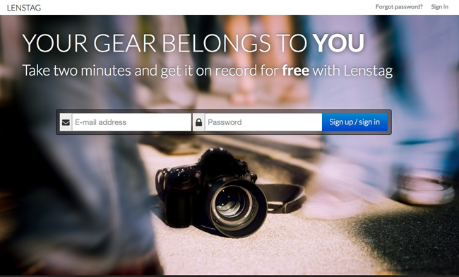 Lenstag: registrando tu material fotográfico para ayudar a prevenir los robos