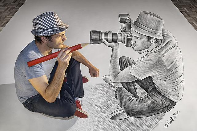 «Pencil Vs Camera»: mezclando el dibujo y la fotografía