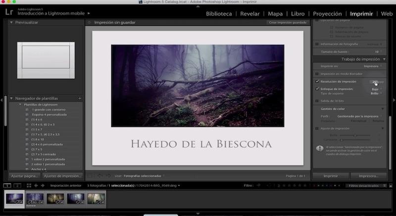Curso de Adobe Lightroom 5 – Capítulo 60: El módulo imprimir (II)