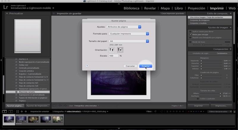 Curso de Adobe Lightroom 5 – Capítulo 59: El módulo imprimir (I)