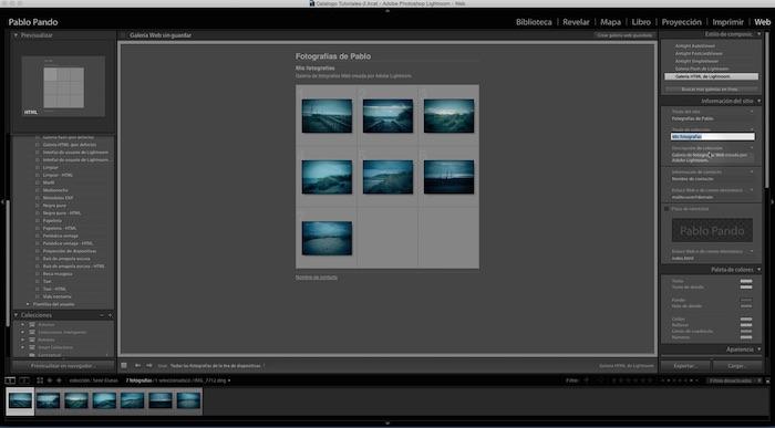 Curso de Adobe Lightroom 5 – Capítulo 63: El módulo WEB