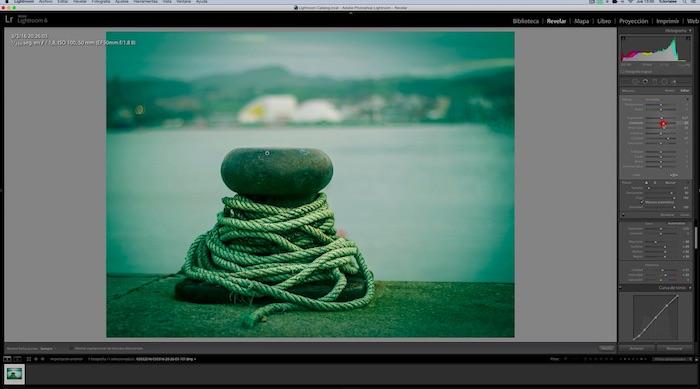 Revelado de fotografía portuaria mediante proceso cruzado y ajustes locales