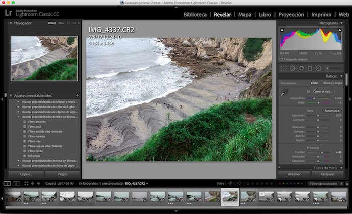 Interface de Lightroom Classic CC
