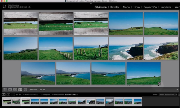 Lightroom - Vista encuesta